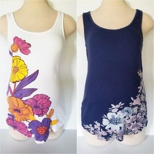 Bundle of Two Floral Maternity Tank Tops